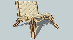 3D Model of Gustav Düsing Small Chair 23D