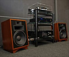 Klipsch Heresey Speakers - Circa 1980. Click on photo for more stereo pics.