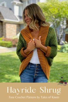 Crochet Shrugs, Crochet Shrug Pattern, Crochet Coat, Crochet Sweaters, Fall Sweaters, Crochet Cardigan, Crochet Shawl, Crochet Clothes, Free Crochet