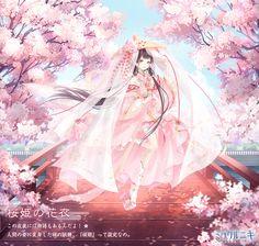 この衣装には物語もあるんだよ!人間の姿に変身した桜の妖精、『桜姫』って設定なの。