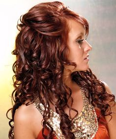 Pictures of Long Curly Hairstyles With Bangs. Get hairstyles ideas and inspiration with Long Curly Hairstyles With Bangs. Prom Hairstyles For Long Hair, Curly Wedding Hair, Homecoming Hairstyles, Long Curly Hair, Hairstyles With Bangs, Wedding Hairstyles, Curly Hair Styles, Braid Hairstyles, Formal Hairstyles