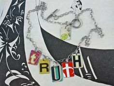 Recycled Necklace made from Vintage Tin Can by fatcatjewelrystudio, $57.00