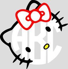 Custom Hello Kitty Monogram por BulletproofAndSassy en Etsy