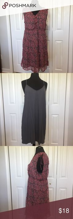 American Eagle Outfitters dress Lightweight dress with under slip. Dress has adjustable shoulders and 4 buttons on front. Slip has adjustable straps. new, but I washed it anyway. From smoke free home. Measurements for top dress. Armpit to armpit 19 1/2 inches. Waist 17 1/4. Waist to hem 24 inches. Shoulder to waist 13 1/2 inches. Garment measured flat. Please measure similar garment that fits you for comparison. American Eagle Outfitters Dresses Mini