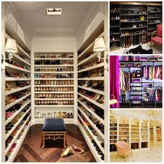 Leef Uniek | Inspiratie | Kledingkamer *Een schoenenkast als deze is een droom voor iedere vrouw!*