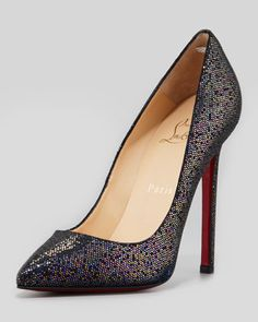 cheap christian louboutin outlet u4eo  Pigalle+Glitter+Red+Sole+Pump,+Blue+by+Christian