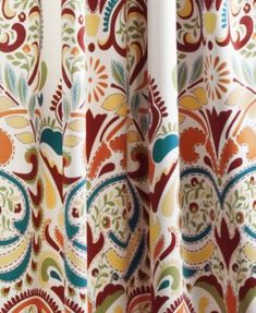 Lush Decor Clara Curtains Paisley Damask Print Bohemian Style Room Darkening Window Panel Set for Living, Dining, Bedroom (Pair) x Turquoise and Tangerine Rod Pocket Curtains, Room Darkening, Damask Print, Curtains, Panel Curtains, Rod Pocket Curtain Panels, Bohemian Style Rooms, Window Curtains, Lush Decor