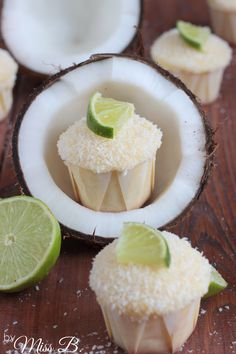 Kokos-Limetten-Cupcakes