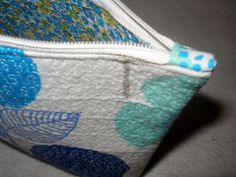 Modern Cotton Fabric Quilted Cosmetic Bag by LilLevelsHomespun