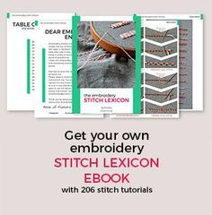 Get your embroidery stitch lexicon ebook