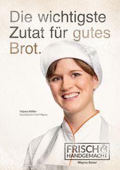 Arbeit für die Hausbäckereien der Migros in der Nordwestschweiz #Migros #Frisch