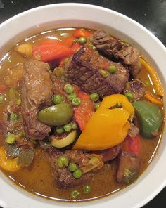 eatingclub vancouver: Beef Kaldereta (Beef Stew with Bell Peppers)