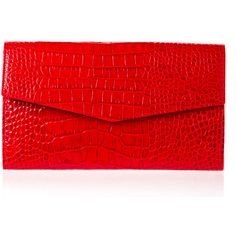 Pre-owned Gianfranco Ferrè Wallet ($283) ❤ liked on Polyvore featuring bags, wallets, clutches, apparel & accessories, handbags, red, wallets & cases, wallets & money clips, croco wallet and pre owned bags