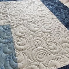 """231 Likes, 13 Comments - Vicki Ruebel (@orchidowlquilts) on Instagram: """"Working on quilt number 2 for today. Going with an all over paisley swirl freehand design. Pieced…"""""""