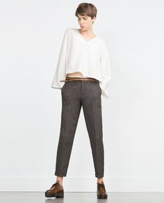 Image 1 of TWEED TROUSERS from Zara