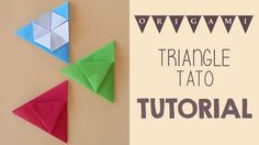 Origami Triangle Tato (Envelope) Tutorial.