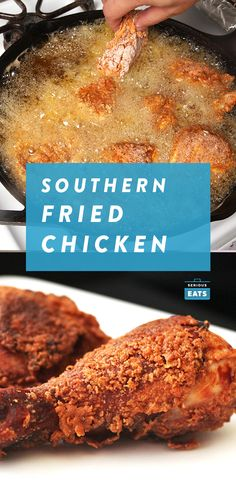 The Food Lab's Southern Fried Chicken Recipe. Probably not as good as my Gra… … The Food Lab's Southern Fried Chicken Recipe. Probably not as good as my Gra… Fried Chicken Recipes, Chicken Flavors, Recipe Chicken, Crispy Chicken, Grilled Chicken, Chicken Eating, Food Lab, Serious Eats, Southern Recipes