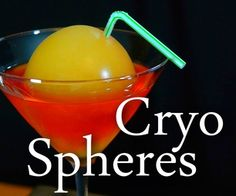 Make Edible Ice Spheres With Cryogenic Liquid #drink #mixology #molecular #recipe #dry_ice #halloween