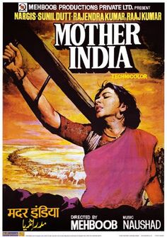 Mother India is a 1957 Bollywood film directed by Mehboob Khan and starring Nargis, Sunil Dutt, Rajendra Kumar and Raj Kumar. Old Movie Posters, Cinema Posters, Film Posters, Vintage Posters, Bollywood Posters, Bollywood Cinema, Best Bollywood Movies, Mother India, Vintage Bollywood