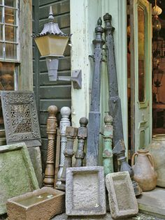 I'd decorate with some architectural salvage