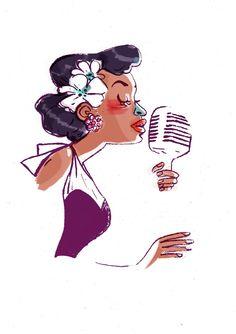 Billie Holiday drawings art