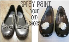 Spray paint shoes! Easy! Awesome!  Don't buy new just makeover