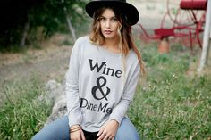 ROYAL RABBIT Wine and Dine Me sweater