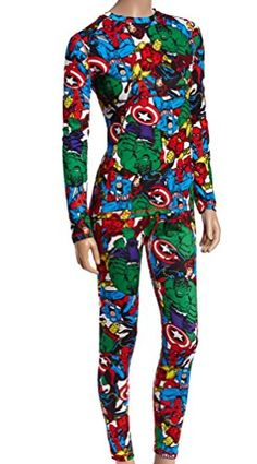 bf516579ecc3 Womens Marvel Super Hero Warm Long Underwear Juniors Medium     More info  could be found at the image url.
