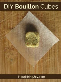 Add a rich, savory depth to all your dishes and skip the MSG with homemade bouillon cubes! Homemade Dry Mixes, Homemade Spices, Homemade Seasonings, Paleo Recipes, Whole Food Recipes, Cooking Tips, Cooking Recipes, Seasoning Mixes, Spice Mixes