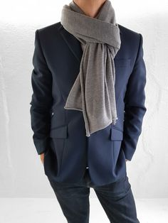 Grey Stone, Natural Brown, Fine Men, Wool Scarf, Merino Wool, Heather Grey, Scarves, Clothes, Collection