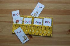 Montessori flash cards holder by PrettyJungle on Etsy
