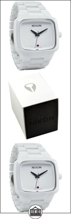 Nixon 1126 A145 - Reloj analógico automático unisex, correa de acero inoxidable color blanco  ✿ Relojes para mujer - (Lujo) ✿