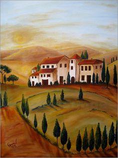 Christine Huwer - Sonnenaufgang in der Toskana