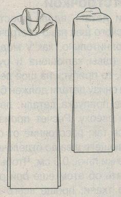 Платье труба эскиз