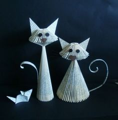 Two cute book kitties, and mouse by clara maffei.