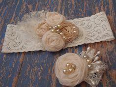 Custom Order for Lina Baby Headband in Ivory by AldonasBoutique,
