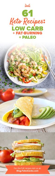 Worried about getting bored on a Paleo-keto diet? These 61 keto  recipes will have you burning fat from breakfast to dessert, and even  snacktime too. Get all recipes here: http://paleo.co/ketorcps