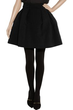 Pleated high-waisted stretch-crepe mini skirt by Lanvin