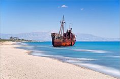 TRAVEL'IN GREECE I Shipwreck near #Gytheio, #Peloponnese, #Greece