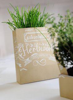 herbs in a kraft bag?  yes, please.