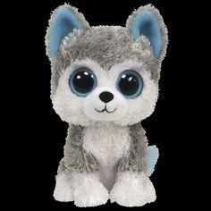 Peluche Beanie Boo's 15 cm Slush le chien Husky - PLUSHTOY