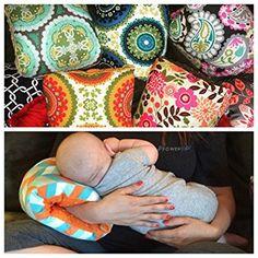 The Nursie Slip-on Arm Nursing Pillow (Lucky Southern w/t Gray Minky)