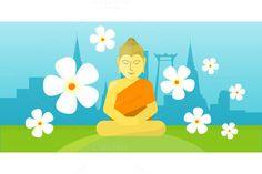 Thai God Buddha by robuart on @creativemarket