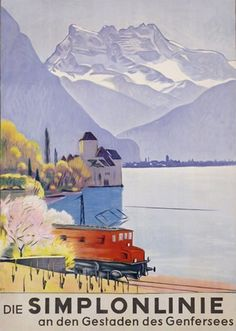 Die Simplonlinie Genfersee 1949 Lake Geneva - www.MadMenArt.com features over…
