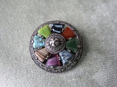 Vintage Celtic Style Faux Agate Miracle Brooch Pin by JWVintage, $15.00