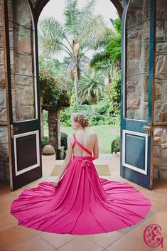 The Back of a Gelique Convertible dress where the bands are a one shoulder in the front and then brought back, and tied in a knot. Convertible Dress, Infinity Dress, Different Styles, Knot, Wrap Dress, Bands, One Shoulder, Bridesmaid, Couture