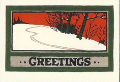 Saturn Press holiday cards at luxepaperie.com