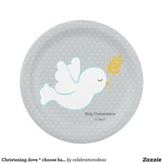 Sold #Christening #dove * #paperplate #baptism #holycommunion Available in different products. Check more at www.zazzle.com/celebrationideas