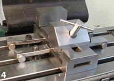 """Home made vise hold-downs shaped as """"barrel clamps."""" Great idea."""