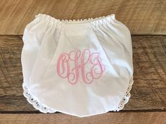 Monogrammed Diaper Cover / Bloomers